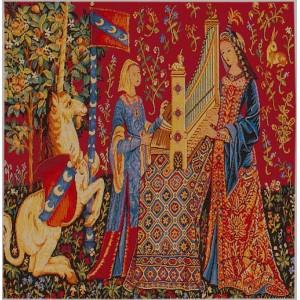 L 39 ou e coussin la dame la licorne - Tapisserie dame a la licorne ...
